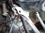 Honda 400EX Upper Shock Mount After Grinding