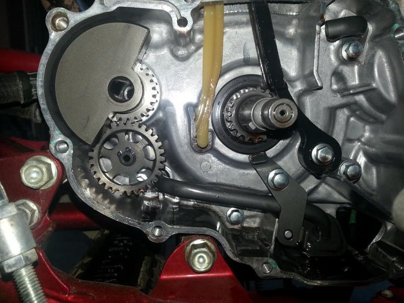 450r left case broken guide