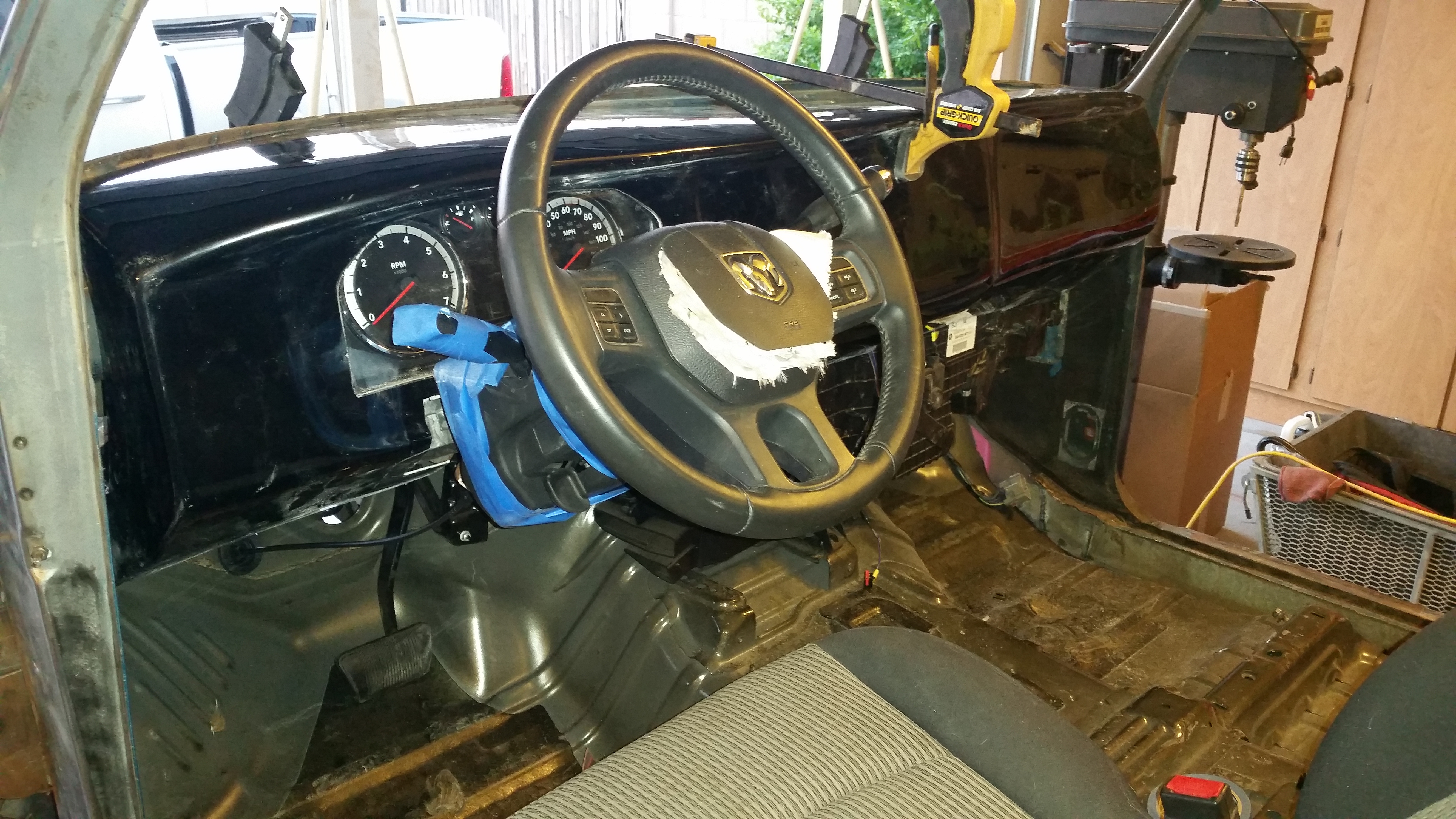 Test fit Dash, Gauge Cluster, Steering Column and Seat
